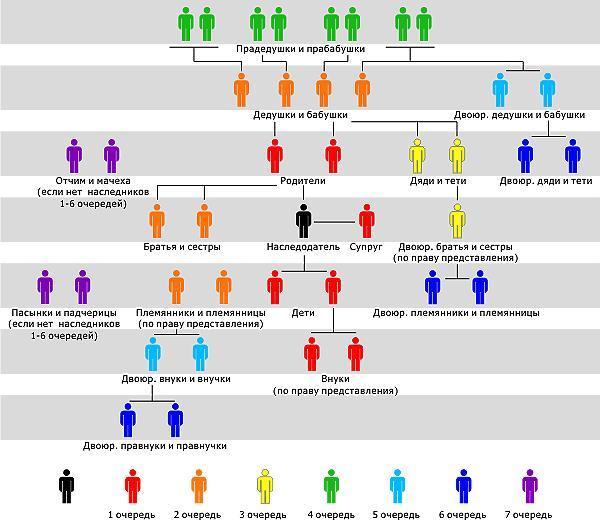 Близкие родственники по закону и очередь
